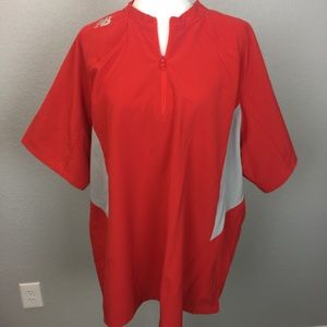 New Balance red/gray wind shirt- 2XL